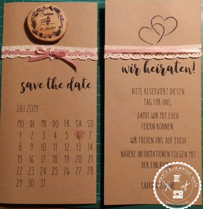 "Unsere ""Save the Date"" Karte"