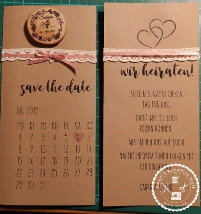 """Unsere """"Save the Date"""" Karte"""