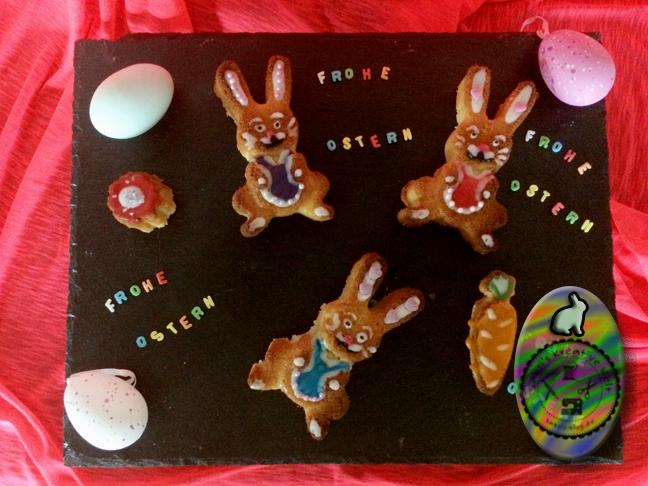 Mini Osterfiguren mit Zuckerglasur