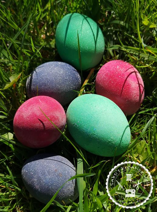 Glitzer Eier für Ostern