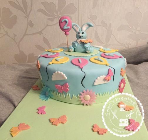 Kikaninchen-Torte zum 2. Geburtstag von Aaliyha