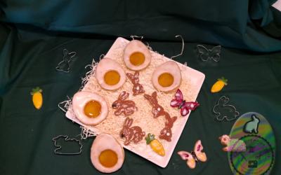 Osterkekse nach Linzer Art und mit Schokolade